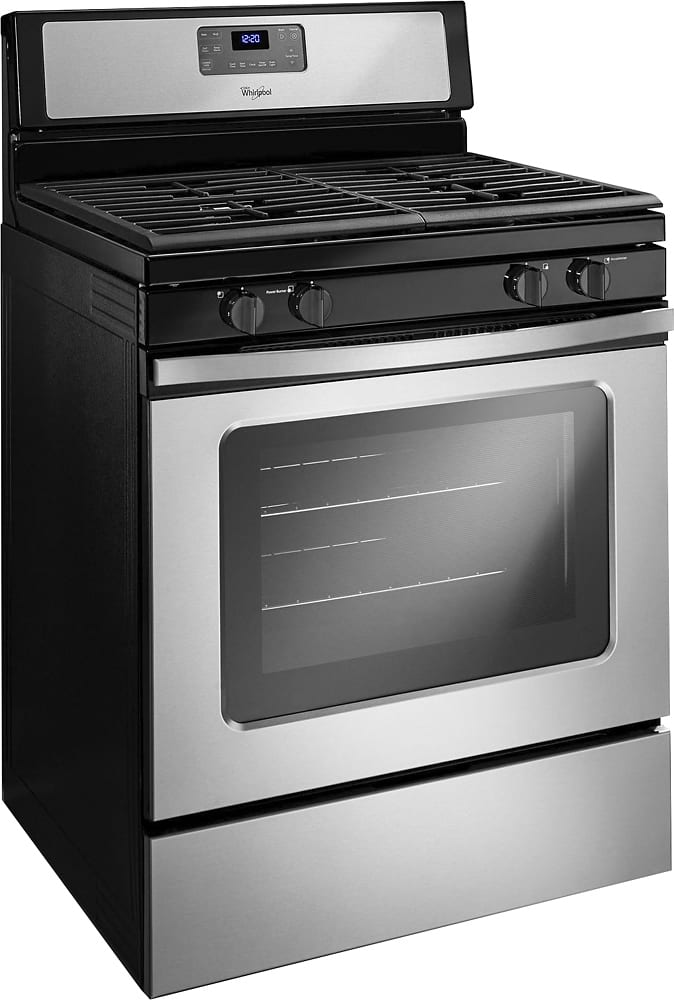 5.0 Cu. Ft. Self-Cleaning Freestanding Gas Range Stainless steel ...