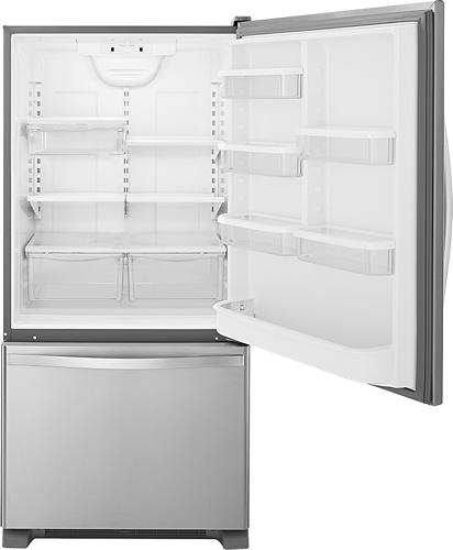 18.5 Cu. Ft. Bottom-Freezer Refrigerator Stainless steel