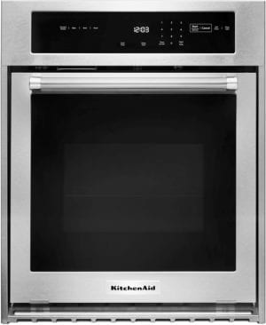 "24"" Built-In Single Electric Convection Wall Oven Stainless steel"
