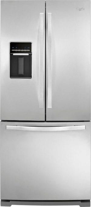 19.6 Cu. Ft. French Door Refrigerator with Thru-the-Door Water Monochromatic Stainless Steel
