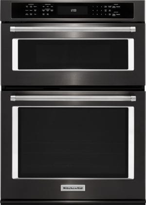 "30"" Single Electric Convection Wall Oven with Built-In Microwave"