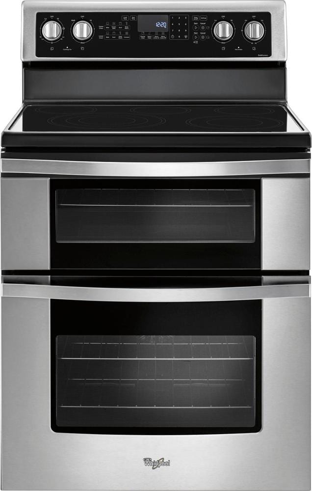 6.7 Cu. Ft. Self-Cleaning Freestanding Double Oven Electric Convection Range Stainless steel