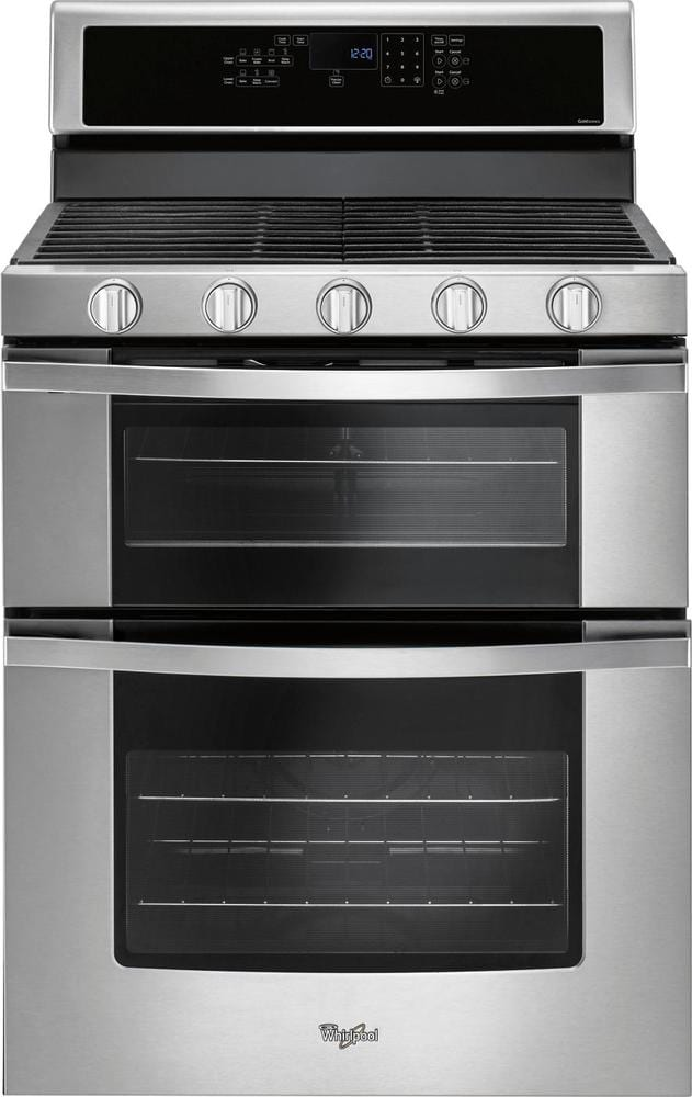 6.0 Cu. Ft. Self-Cleaning Freestanding Double Oven Gas Convection Range Stainless steel