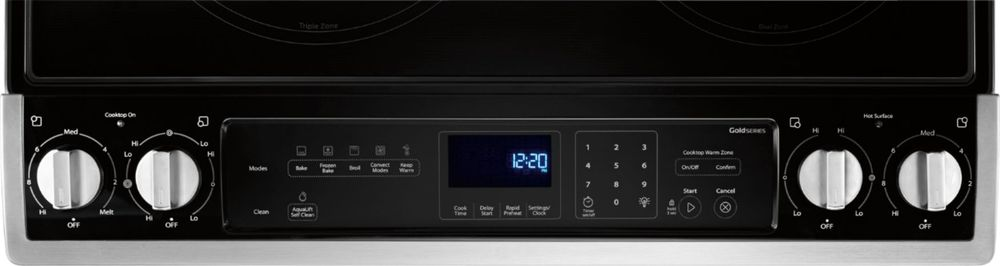 6.4 Cu. Ft. Self-Cleaning Electric Convection Range Stainless steel