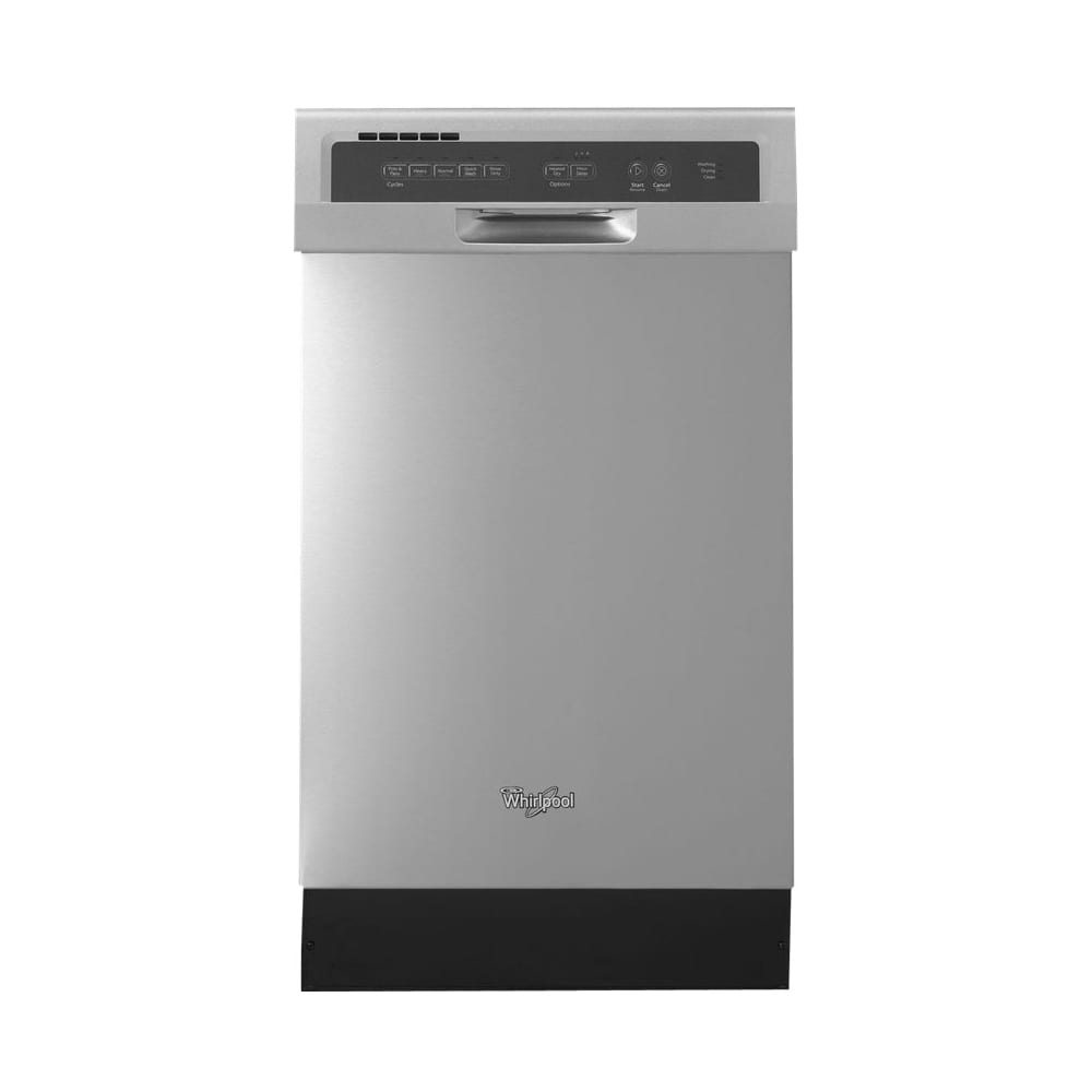 18 Built In Dishwasher Monochromatic Stainless Steel