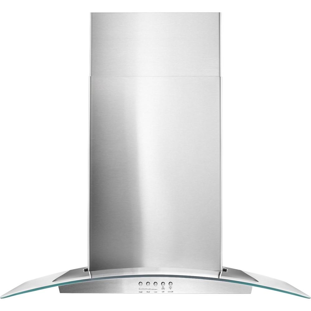 "30"" Convertible Glass Range Hood Stainless steel"
