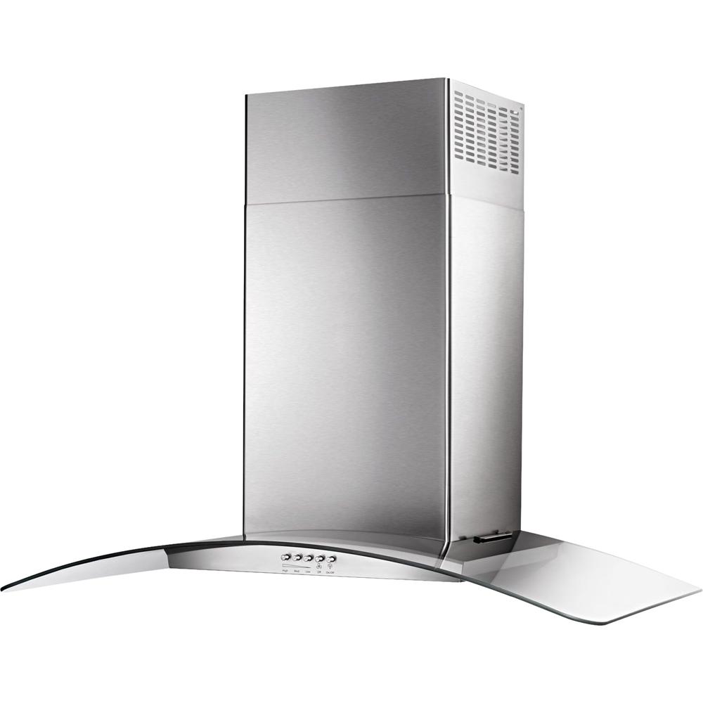 "30"" Convertible Glass Range Hood Stainless steel"