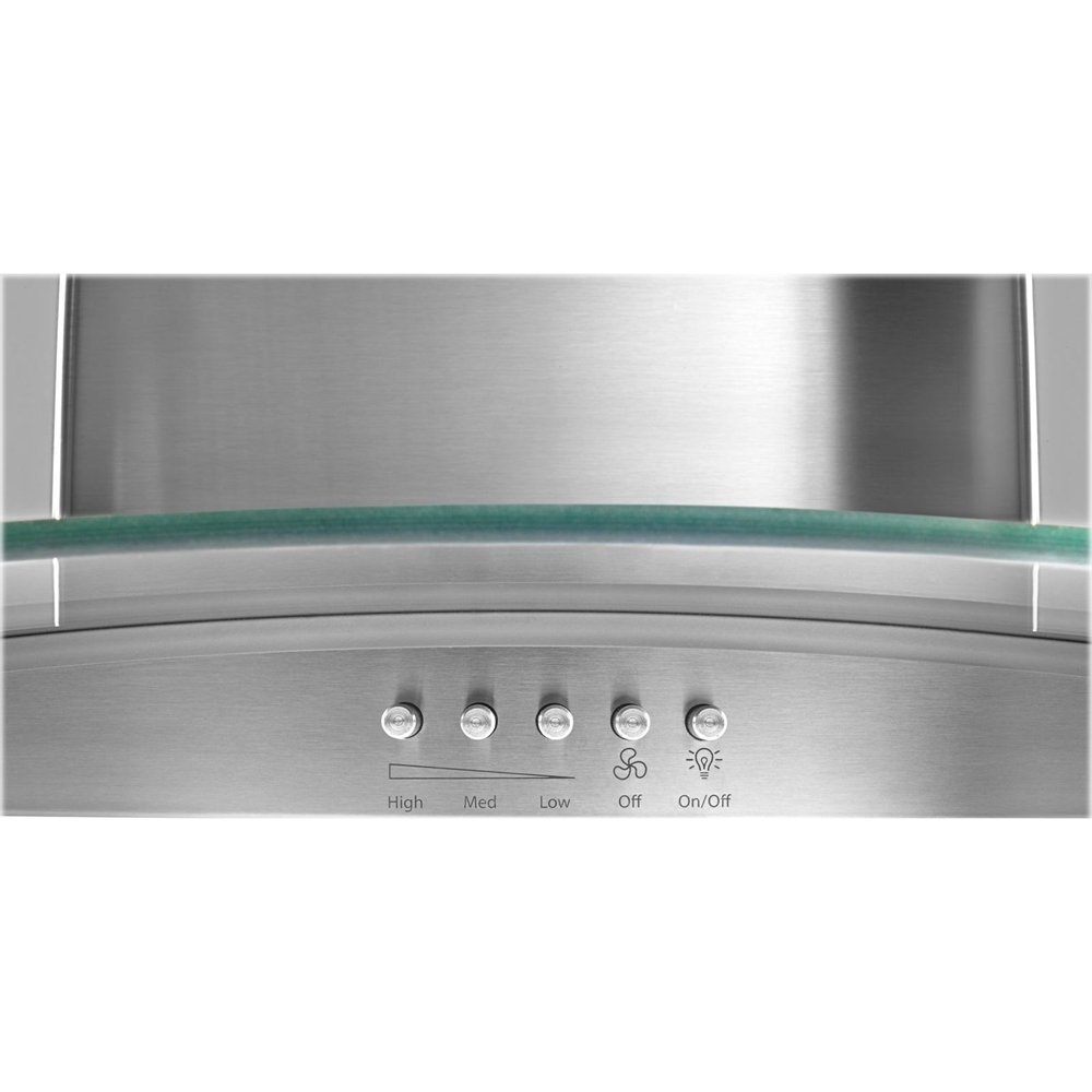 "36"" Convertible Glass Range Hood Stainless steel"