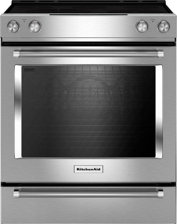 6.4 Cu. Ft. Self-Cleaning Slide-In Electric Convection Range Stainless steel