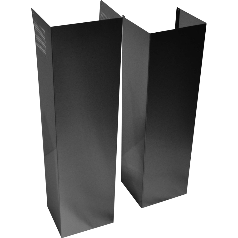 Chimney Extension Kit for Wall Hood Black Stainless steel