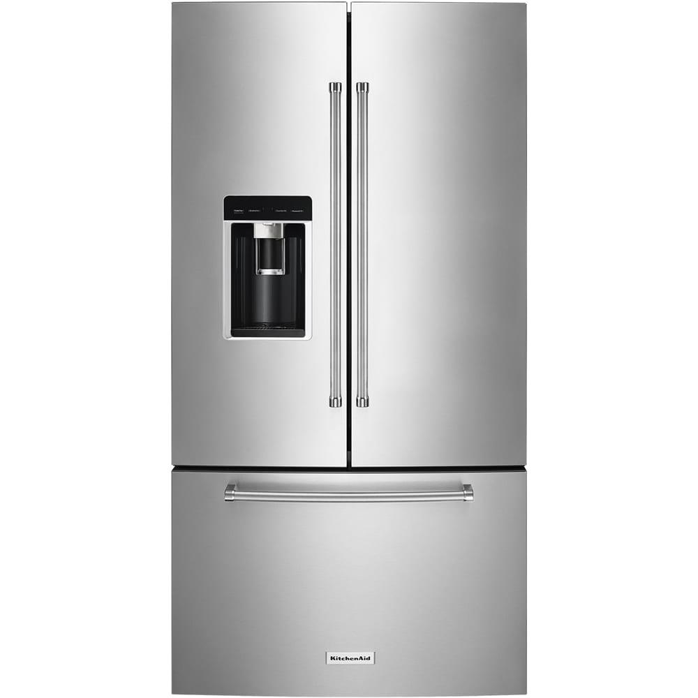 23.7 Cu. Ft. French Door Counter-Depth Refrigerator Stainless steel