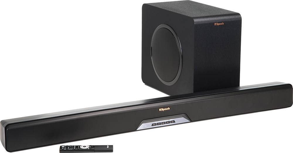 """Reference Series 2.1-Channel Soundbar System with 8"""" Wireless Subwoofer and Digital Amplifier"""
