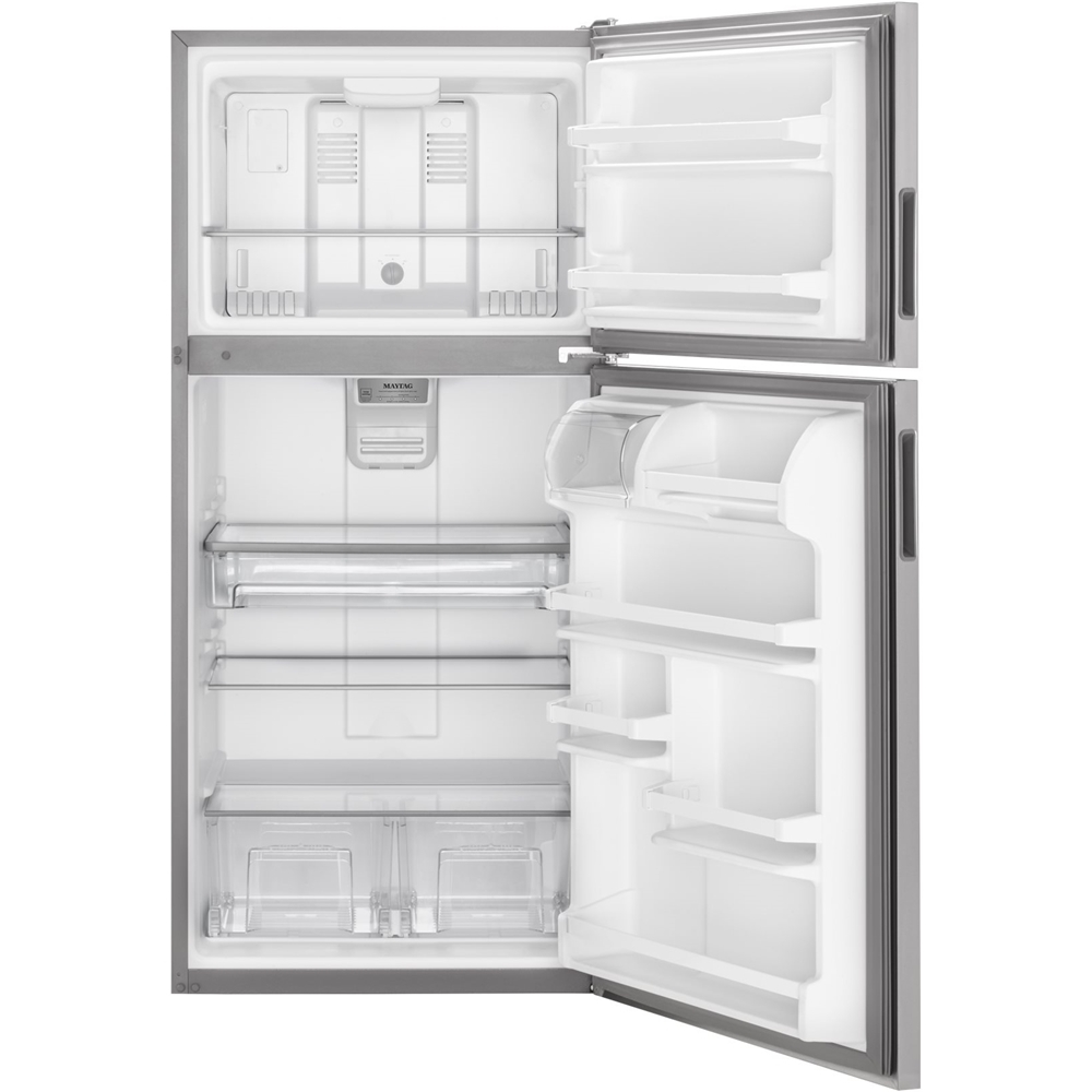 20.5 Cu. Ft. Top-Freezer Refrigerator Stainless steel