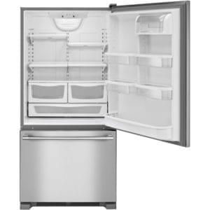 18.6 Cu. Ft. Bottom-Freezer Refrigerator Stainless steel