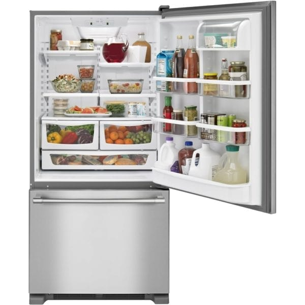 22.1 Cu. Ft. Bottom-Freezer Refrigerator Stainless steel