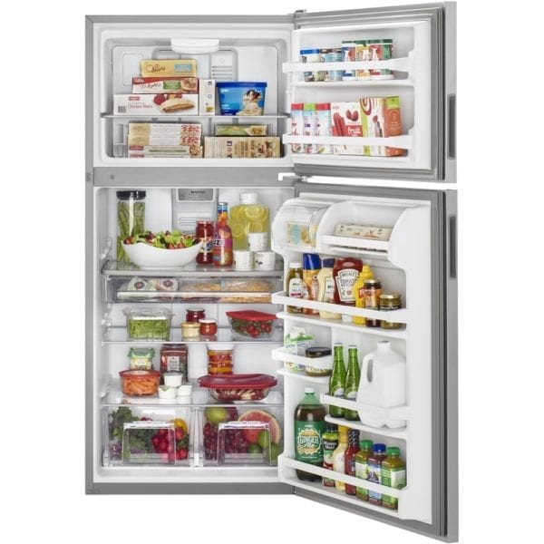 20.5 Cu. Ft. Top-Freezer Refrigerator Monochromatic stainless steel
