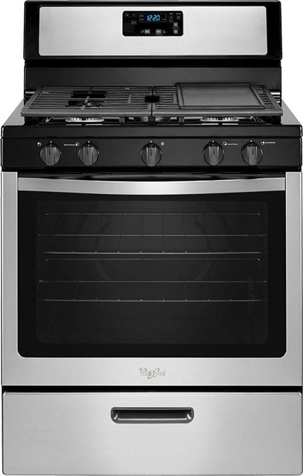 5.1 Cu. Ft. Freestanding Gas Range Stainless steel