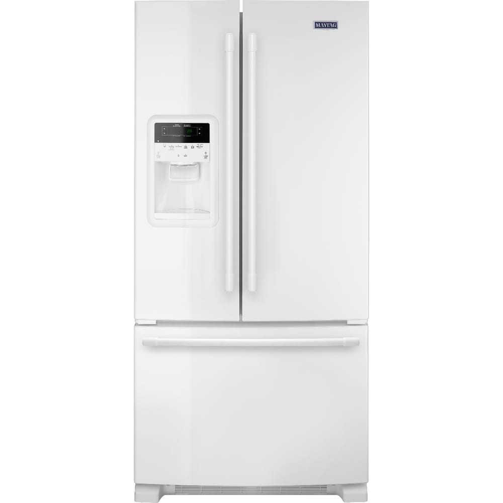 21.7 Cu. Ft. French Door Refrigerator White on white