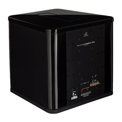 "BalancedForce Dual 12"" Powered Subwoofer High-gloss black"