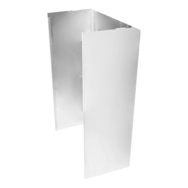 Chimney Extension Kit for Wall Mount Hoods Stainless steel