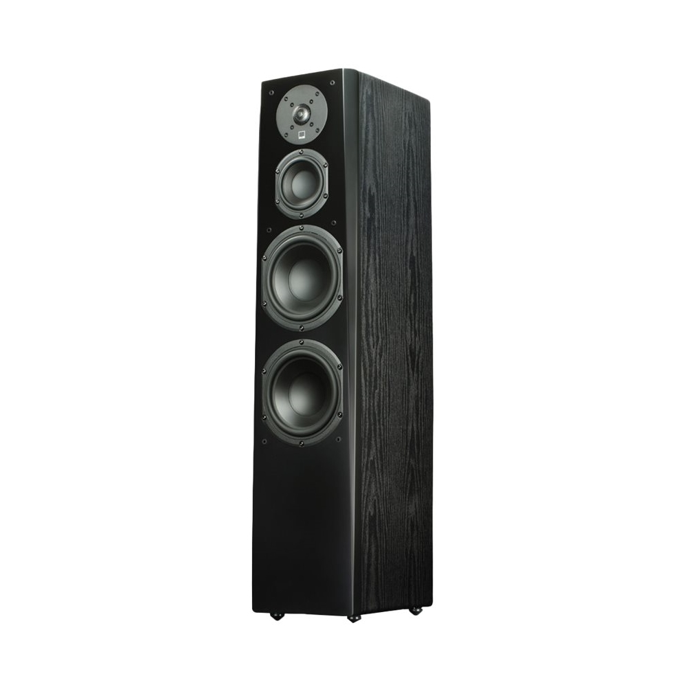 """Prime Dual 6-1/2"""" Passive 3.5-Way Floor Speaker (Each) Premium black ash"""