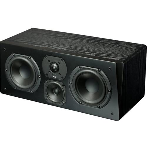 "Prime Dual 5-1/4"" Passive 3-Way Center-Channel Speaker Premium black ash"