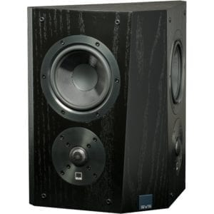 "Ultra Dual 5-1/2"" Passive 2-Way Surround Channel Speaker (Each) Black oak"