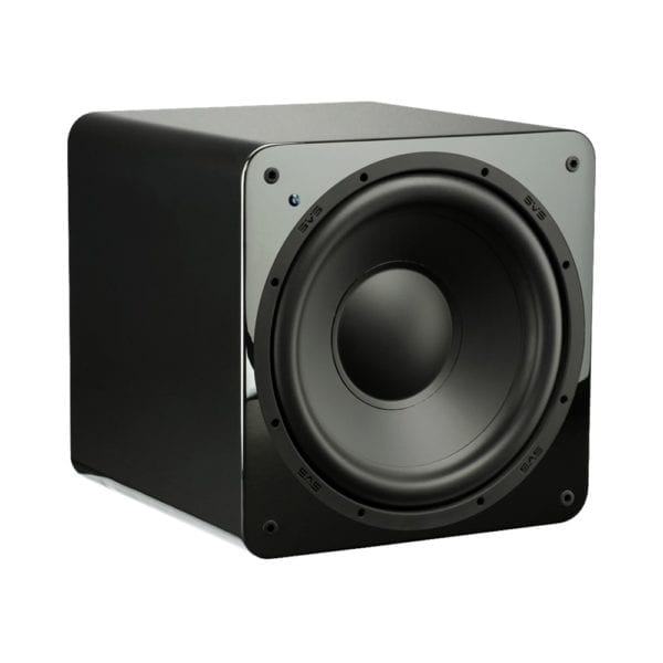 "12"" 300W Powered Subwoofer Gloss piano black"