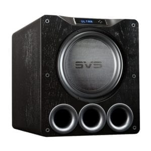 "16"" 1500W Powered Subwoofer Black Oak Veneer"