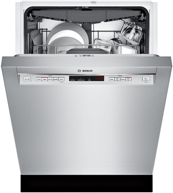 """300 Series 24"""" Recessed Handle Dishwasher with Stainless Steel Tub Stainless steel"""
