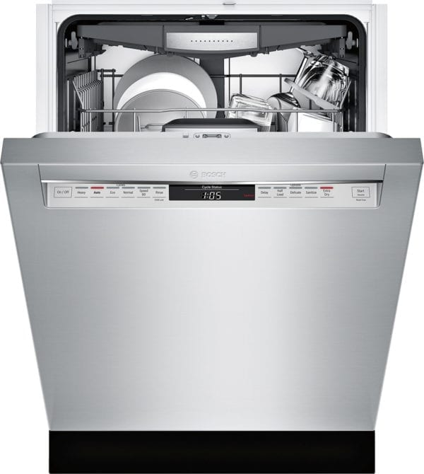 """800 Series 24"""" Recessed Handle Dishwasher with Stainless Steel Tub Stainless steel"""