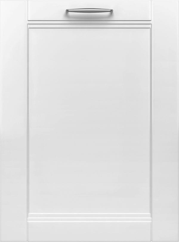 """800 Series 24"""" Custom Panel Dishwasher with Stainless Steel Tub white"""