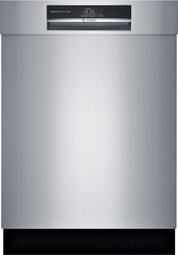 """800 Series 24"""" Recessed Handle Connected Dishwasher with Stainless Steel Tub Stainless steel"""