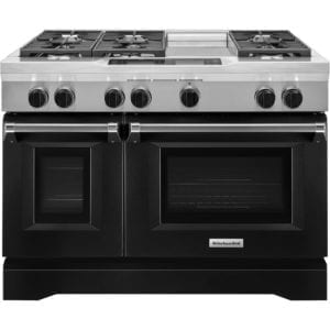 6.3 Cu. Ft. Self-Cleaning Freestanding Double Oven Dual Fuel Convection Range Imperial black
