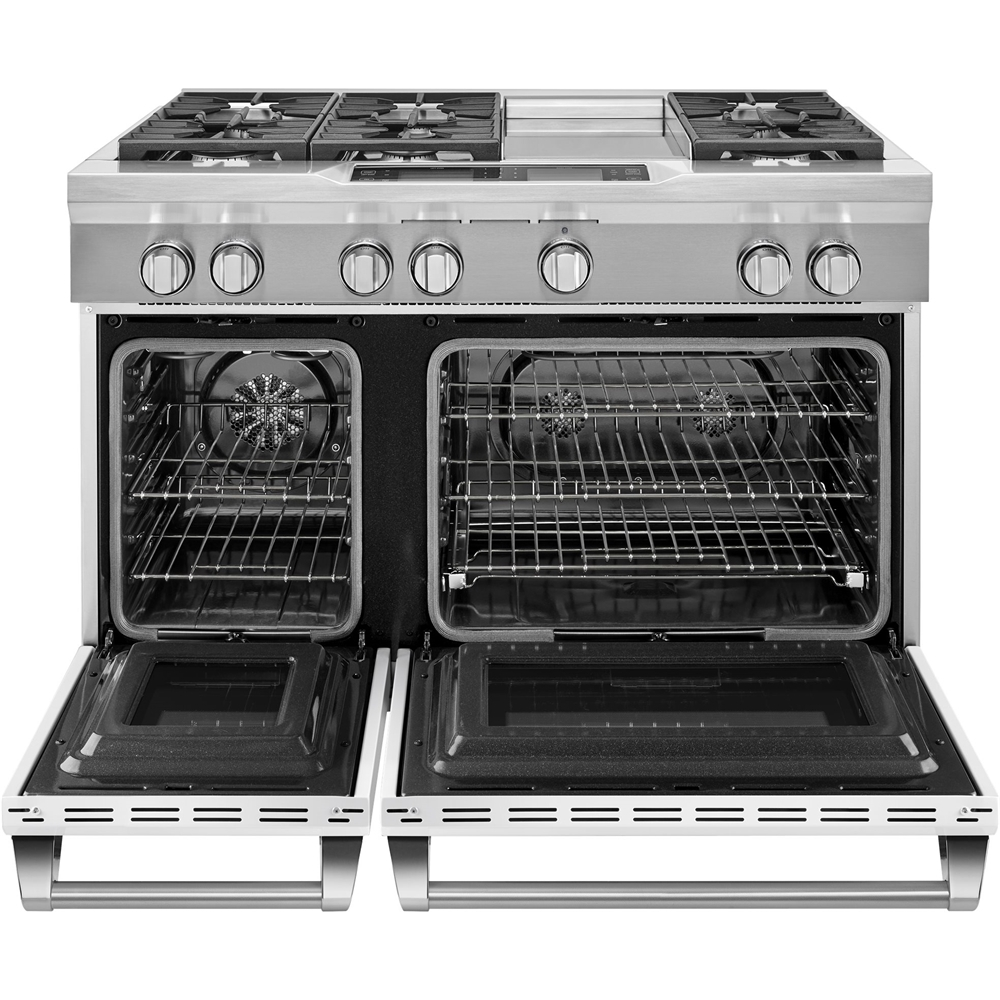 6.3 Cu. Ft. Self-Cleaning Freestanding Double Oven Dual Fuel Convection Range Imperial white