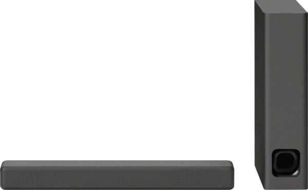 """2.1-Channel Soundbar System with 4.72"""" Wireless Subwoofer and Digital Amplifier Charcoal black"""