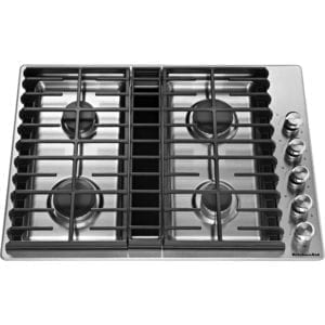 "30"" Gas Cooktop Stainless steel"