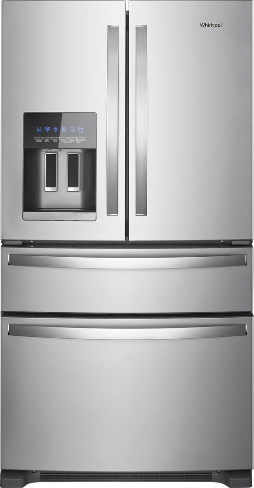 24 5 cu ft 4 door french door refrigerator stainless steel. Black Bedroom Furniture Sets. Home Design Ideas