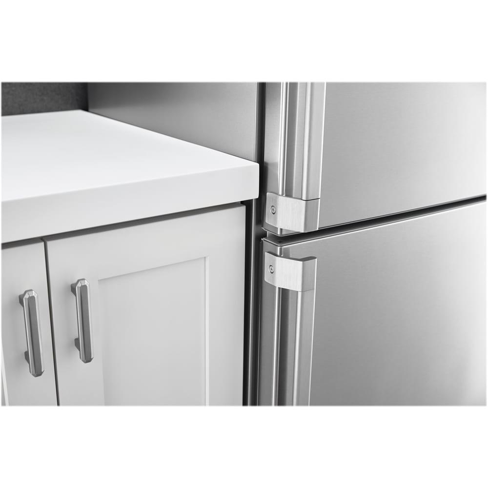 11 3 cu ft bottom freezer counter depth refrigerator stainless steel. Black Bedroom Furniture Sets. Home Design Ideas