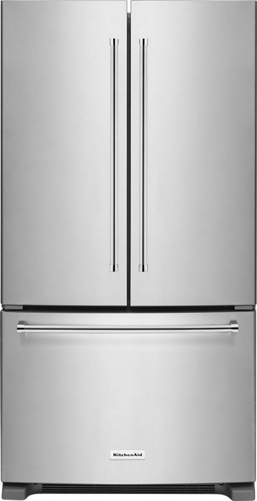 20.0 Cu. Ft. French Door Counter-Depth Refrigerator Stainless steel