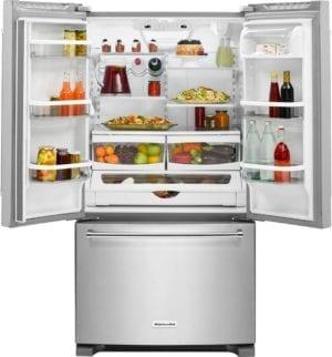 20.0 Cu. Ft. French Door Counter-Depth Refrigerator Stainless steel