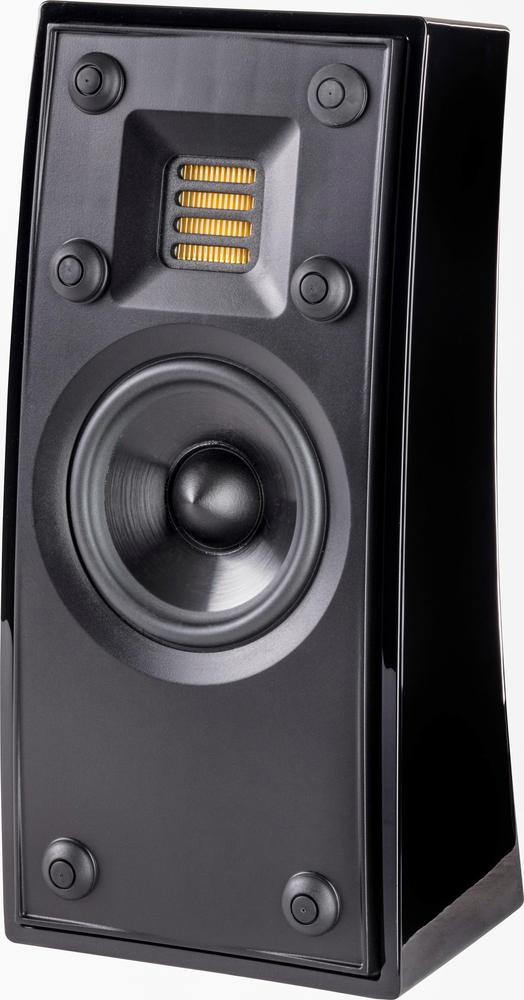 "Motion 3-1/2"" 50-Watt Passive 2-Way Bookshelf Speaker (Each) Gloss black"