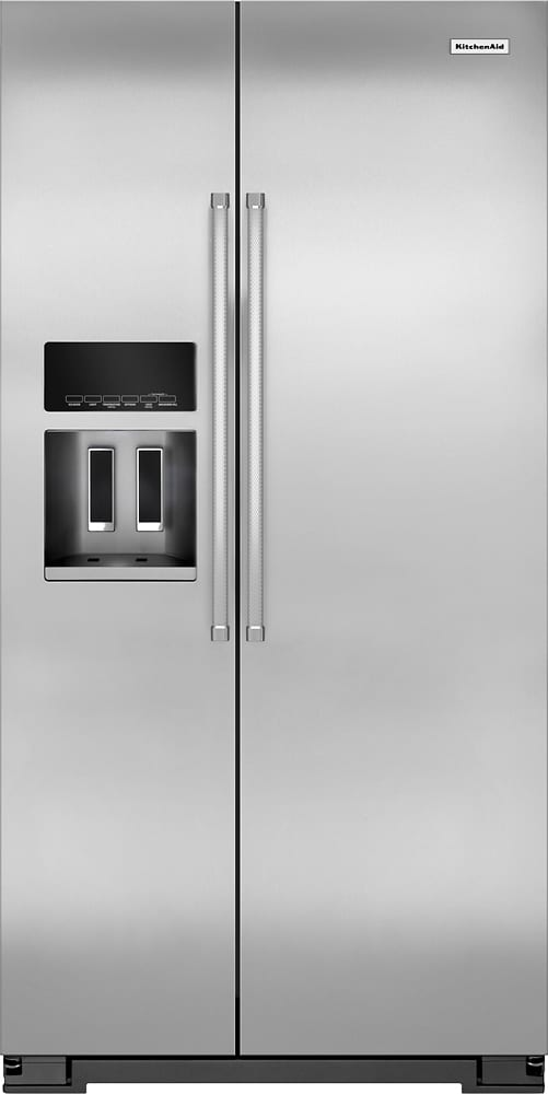 22.7 Cu. Ft. Side-by-Side Counter-Depth Refrigerator Monochromatic Stainless-Steel