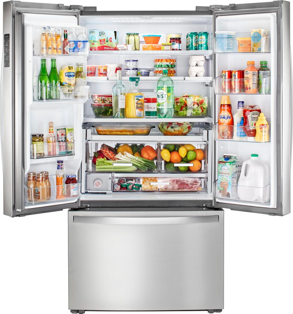 23.8 Cu. Ft. French Door Counter-Depth Refrigerator Monochromatic stainless steel