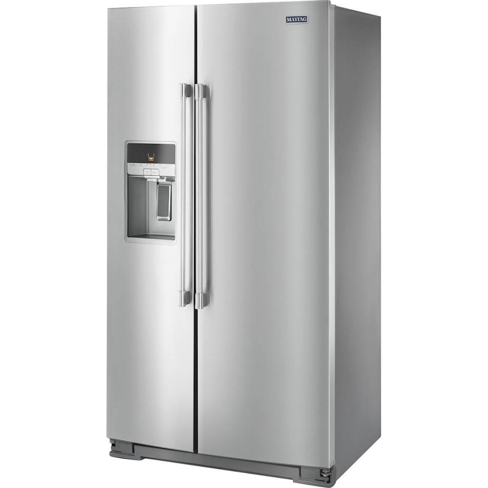 25.6 Cu. Ft. Side-by-Side Refrigerator with Water and Ice Dispenser PrintShield Stainless