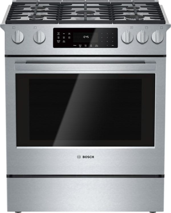 800 Series 4.8 Cu. Ft. Self-Cleaning Slide-In Gas Convection Range Stainless steel