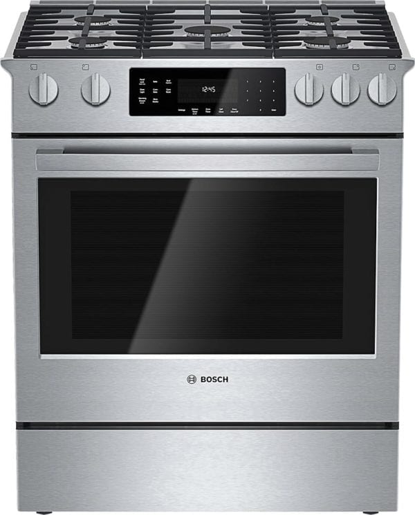 800 Series 4.6 Cu. Ft. Self-Cleaning Slide-In Dual Fuel Convection Range Stainless steel
