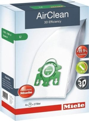 AirClean 3D Efficiency U Dustbags Lotus White