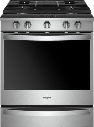 5.8 Cu. Ft. Self-Cleaning Slide-In Gas Convection Range Stainless steel