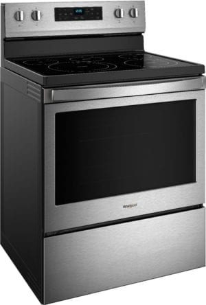 5.3 Cu. Ft. Self-Cleaning Freestanding Electric Convection Range Stainless steel
